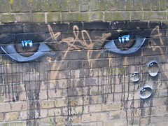 UK - London - Dulwich - Dulwich Street Art Festival - Eyes on garden wall at 256 Lordship Lane (JulesFoto) Tags: uk england streetart london graffiti eyes mural crying murals eastdulwich dulwich publicmurals baroquethestreets dulwichartfestival 256lordshiplane