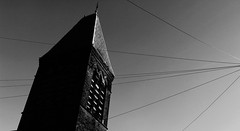 In the shadow of a tower (Anthony Paul Price) Tags: white black dark photography lancashire psycho anthony preston
