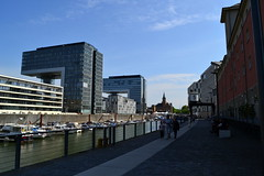 Rheinauhafen and crane buildings (Nadim S. Haque) Tags: germany deutschland cologne kln rhine rhein rheinauhafen kranhuser