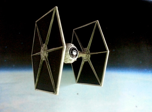 Tie Fighter On Patrol.