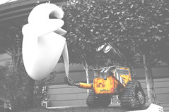 Eeeevah! (talia) Tags: travel bw color yellow disneyland disney selective disneylandparis selectivecolor walle