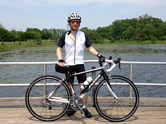 Me Biking at Lake Artemesia (Mr. T in DC) Tags: people ted me bike bicycle portraits cycling md maryland biking mrt roadbike iphone jamis lakeartemesia mrtindc jamisenduraelite xenithenduraelite