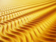 Golden Waves (Batikart) Tags: abstract macro art texture colors lines yellow closeup canon germany paper geotagged fun deutschland gold golden energy colorful europa europe waves pattern colours bright vibrant background linie joy happiness struktur surface structure diagonal indoors cardboard fantasy dreams sheet makro ursula effect enjoyment corrugated abstrakt diagonale sander wellen g11 fellbach pasteboard paperboard badenwrttemberg swabian 100faves 2013 200faves wavelike viewonblack corrugatedboard batikart tonkarton colouredcard canonpo