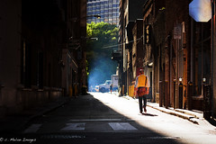 Old Habits Never Die (c. Melon Images) Tags: street city light boy shadow portrait woman mist man love philadelphia girl mystery canon 50mm spring alley dof bokeh walk candid story nik philly cinematic lightroom 2013