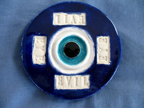 "My ceramic ""evil eye"" for Eye theme for Macro Monday"
