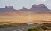 Mile Marker 13!! (Brian Just Got Back From...) Tags: road arizona rock vanishingpoint desert monumentvalley utahborder milemarker13