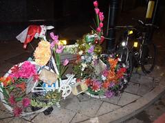 Floral Tribute Bike @ Dalston Junction. (steeev) Tags: road uk flowers london floral bike bicycle memorial accident rip tribute memorium dalston floraltribute rta cyclingaccident roadtrafficaccident