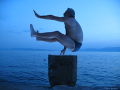 Yoga nad morem (loncarici) Tags: yoga levitation croatia rijeka