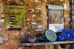 La Galerie des Ocres (Michele*mp) Tags: france texture geotagged europe gallery village stones pierre galerie provence ochre luberon roussillon ocre cramique vaucluse ochres ocres lesplusbeauxvillagesdefrance michelemp weekendmaisonscolombages geo:lat=43903015 geo:lon=5292334699999969