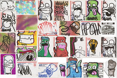 Pack from Apollo part 1 (OKARIEN) Tags: rock illustration graffiti salad stencil paint hand dumb stickers drawings tags spray labels characters sharpie usps markers dingo slaps breadbox daps collabs throwie molotows okarien