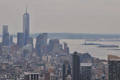 Freedom Tower & Statue Of Liberty (Ryan Hadley) Tags: newyorkcity usa newyork statue skyline skyscraper river island manhattan rockefellercenter newyorkskyline hudsonriver statueofliberty ellisisland freedomtower oneworldtradecenter