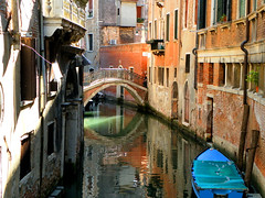 Time For Reflection (REBEL--) Tags: venice reflection tower water river boat canal gondola venezia venedig saintmarks stmarks