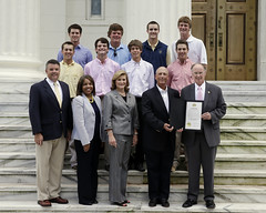 08-21-13 Golf Team at Central Alabama Community College receives Commendation from Governor Robert Bentley