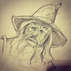 Gandalf - Sketch (Works by Issao Bazolli) Tags: illustration pencil sketch gandalf draw lpis desenho