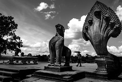 Entrance to Angkor Wat (AMNewman) Tags: bw alex cambodia siemreap angkor newman alexnewman valleyninja