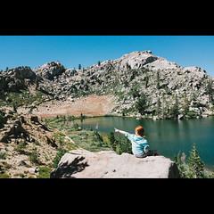 Yonder (dmacphoto) Tags: california camping mountains water tallulah eldorado sierra alpine backpacking granite yonder backcountry wilderness sierranevada pointing thataway mokelumnewilderness granitelake x100s fujifilmx100s