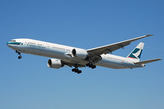 Cathay Pacific 777 (So Cal Metro) Tags: plane airplane la losangeles airport aircraft aviation jet airline boeing lax 777 jumbojet airliner cathaypacific bkpd