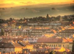 Brno Scape at Sunset 4 (Kojotisko) Tags: sunset brno cc creativecommons czechrepublic scape hdr