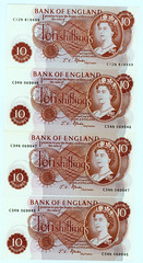 "2 Pounds In ""old"" Money........ (colinfpickett) Tags: old money cash banknote tenshillings longgone curreny"
