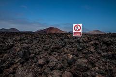Do not cross (Fromthefaith) Tags: nature rock azul way island lava rocks europa cielo canary isla islas hdr roca piedras laspalmas islascanarias lagraciosa