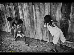 A photograph is not created by a photographer (Sam Antonio Photography) Tags: wood girls portrait people home boys happy photography asia southeastasia child play looking vietnam da curious playtime dalat groupofpeople lat havingfun childrenplaying centralhighlands ethnicminority blurredmotion colorimage ruralscene dalatvietnam centralvietnam childrenlaughing lamdong canoneos5dmarkii vietnamphotography dalatcountryside samantonio canon24105f4lens rottour vision:outdoor=0925