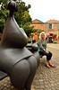 Moissac Art (jonshort58) Tags: sculpture france art public wife tarnetgaronne midipyrenees moissac nikkor1685 nikond7000 jeanlouistoutain