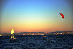 Kite-Surfing (siliadakis) Tags: kite surfing chios
