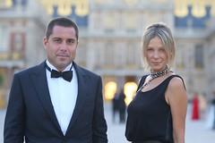 Riccardo Silva and wife Tatiana (mark erdmann) Tags: life park flowers blue light party portrait people blackandwhite food black paris france flower love sport landscape photography evening photo photos live soccer event versailles vip wife tatiana riccardo mpsilva riccardosilva