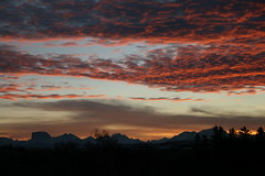 Nov sunset (garrymoore) Tags: november sky canon rockies lights evening redsky