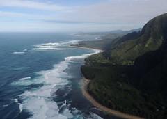 North shore, Kauai (Anita363) Tags: hawaii aerial helicopter kauai hi aerialphotography hanalei haena flightseeing hanaleibay geotagmanual