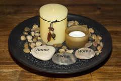 5. Home Sweet Home. 05-01-2014 (Mr Dimpy) Tags: home table candles sweet stones plate