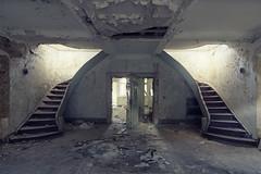 (maxelmann) Tags: abandoned up stairs germany lost hotel stair down stairway forgotten tristesse verlassen verloren urbex treppenhaus symmetrie hoch erholung marode vergessen treppenaufgang lostplaces runter maxelmann