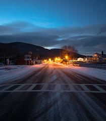 Lake George in the Winter (Michael Kreho) Tags: winter lake snow night evening frozen streetlight blueline adirondacks lakegeorge freeze ghosttown adk adirondackmountains michaelkreho