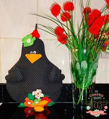 Mais uma do R Endlich (Adriely C Endlich) Tags: flowers galinha arte artesanato cozinha inspiração cdqf comprodequemfaz rendlich