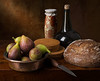 Still Life with Honey jar and Figs (in the style of Luis Melendez) (kevsyd) Tags: stilllife bread figs 645d cheeseboxes kevinbest