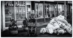 Me against the world (digormc) Tags: street bw woman white black children child strasse muslim religion bahnhof kinder kind rubbish waste frau mll mdchen turkish integration allah turk kopftuch dreck burka glaube auslnder stadtallendorf {vision}:{outdoor}=0812