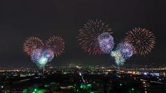 Latern Festival Fireworks (Ted Tsang) Tags: longexposure night landscape nightscape fireworks taiwan olympus 南投 夜景 lanternfestival 煙火 中興新村 花火 元宵節 em1 lighttrail nantou 台灣燈會 chunghsingnewvillage yuanxiaofestival 車軌 anawesomeshot 1240mmf28