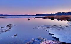 Laajasalo (timo_w2s) Tags: winter sunset sea snow ice finland helsinki hdr laajasalo
