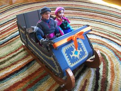 Kristoff's Sleigh (paynedabear) Tags: anna frozen store doll dolls handmade ooak barbie hans disney size custom sled sleigh elsa jcp kristoff jcpenney 2013