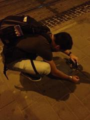 Berrie aan het fotograferen