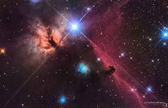 Horsehead and Flame Nebulae (TheAstroShake) Tags: canon space telescope nebula astrophotography dslr horsehead 550d astrograph astrometrydotnet:status=solved astrometrydotnet:id=nova247221