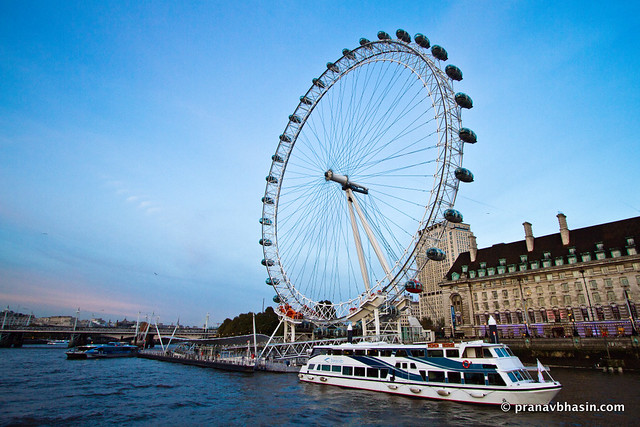 Sailing Past London Eye