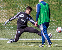 Marco Carducci (The Vancouver Herald) Tags: canada vancouver training football britishcolumbia soccer dominion cascadia mls 2014 majorleaguesoccer thunderbirdstadium associationfootball westernconference dominionofcanada trainingsessions vancouverwhitecapsfc vwfc marcocarducci