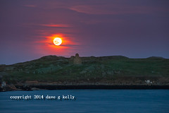 Blood Moon over Dalkey Island (
