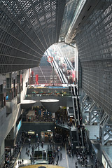East Side of the Kyoto Station (veropie) Tags: travel japan japanese kyoto asia traveller trainstation traveling eastasia kyotostation hiroshihara kyotoprefecture kyototrainstation notatourist