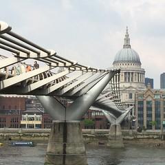 Millennium Bridge (Deydodoe) Tags: cameraphone uk bridge london apple church thames cathedral stpauls millennium southbank milleniumbridge stpaulscathedral riverthames iphone 2014 appleiphone