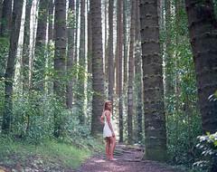 I will follow you (Ca$hreno) Tags: trees woman color slr film girl beautiful beauty forest mediumformat hawaii photoshoot pentax kodak mysterious epson filmcamera 6x7 ektar c41 filmphotography pentax67 v700 105mmf24 ektar100