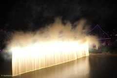The famous waterfall fireworks during Brisbane Riverfire (Raul Wong Roa) Tags: nightphotography waterfall fireworks australia brisbane slowshutter brisbaneriver storybridge riverfire brisbanefestival
