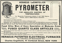 Heraeus Patented Electrical Furnaces (Kitmondo.com) Tags: old colour history industry work vintage magazine advertising photo industrial factory technology tech image working machine advertisement equipment business company machinery advert labour historical kit oldequipment publication metalworking oldadvert oldmagazine oldwriting vintageequipment oldadvertisment oldliterature vintagepublication oldpublication machinerypublication
