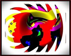 Rex Abdula Goes Kafkaesque (Joe Vance aka oliver.odd) Tags: abstract black color colour green geometric face yellow bulb turn soup design waiting beetle surreal lips helium lancaster dining non ideas lippy economy globes kafkaesque stickybeak hypotheticalawards